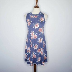 BCX NWT  Blue Floral Sleeveless Shift Dress